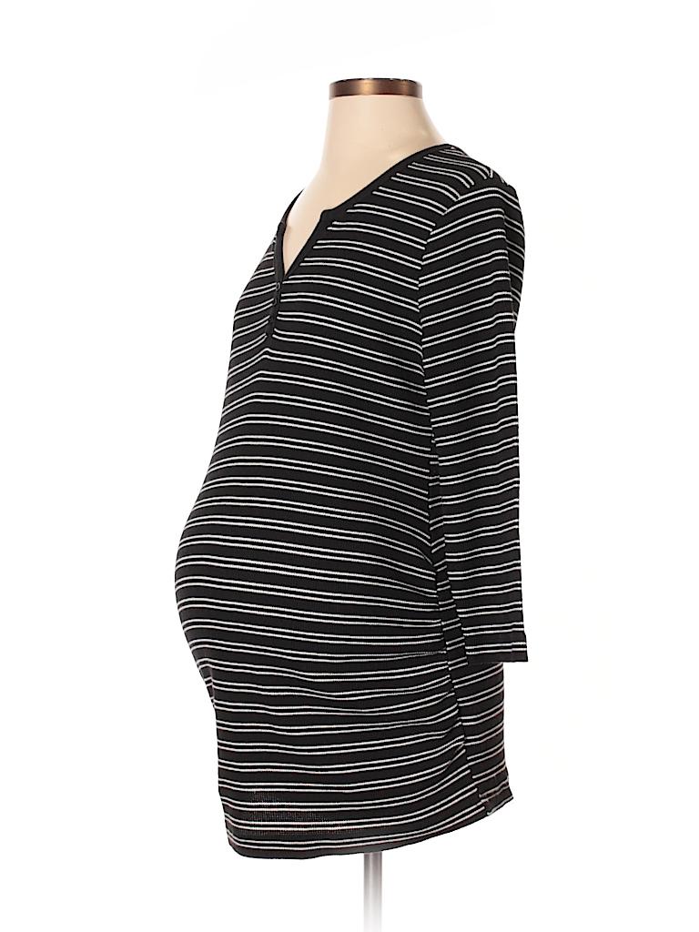 Motherhood Women 3/4 Sleeve Henley Size L (Maternity)