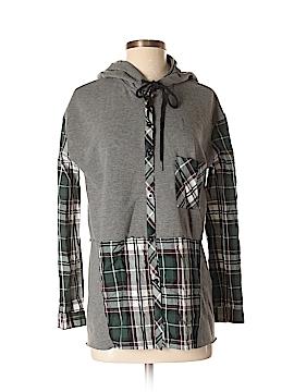 Hem & Thread Long Sleeve Button-Down Shirt Size Sm - Med