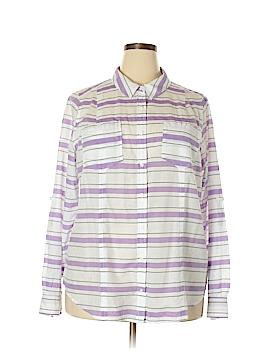Lane Bryant Outlet Long Sleeve Button-Down Shirt Size 22 (Plus)