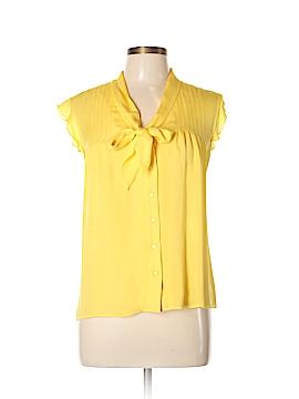 AK Anne Klein Short Sleeve Silk Top Size 12 (Petite)