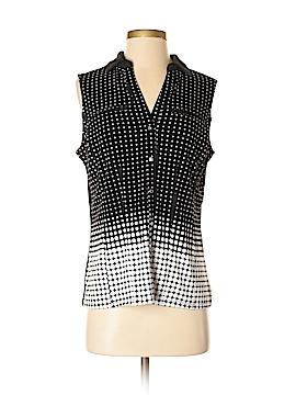 7th Avenue Design Studio New York & Company Sleeveless Button-Down Shirt Size S