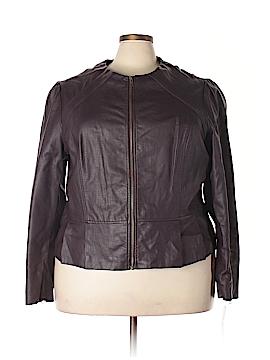 Elle Faux Leather Jacket Size 3X (Plus)