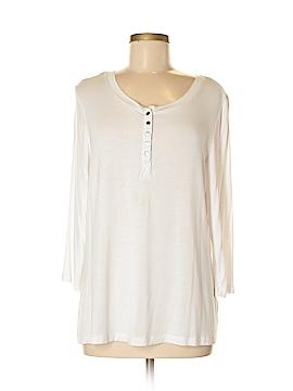 Laura Ashley 3/4 Sleeve Henley Size XL (Petite)