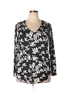 Simply Vera Vera Wang Long Sleeve T-Shirt Size 1X (Plus)