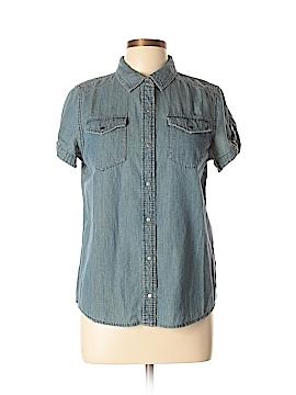 Jones New York Short Sleeve Button-Down Shirt Size M (Petite)