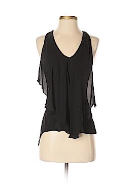 Bordeaux Sleeveless Silk Top Size XS