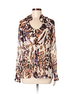 Etcetera Long Sleeve Silk Top Size 8