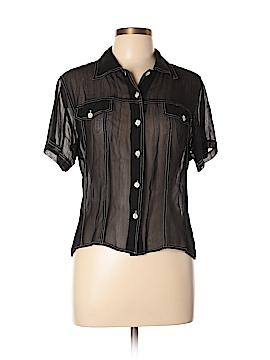 Magazine Short Sleeve Blouse Size L