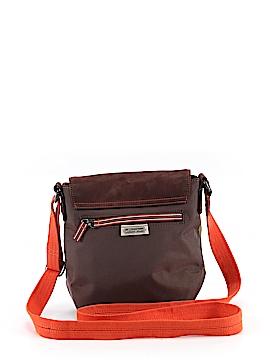 Color Block Brown Crossbody Bag