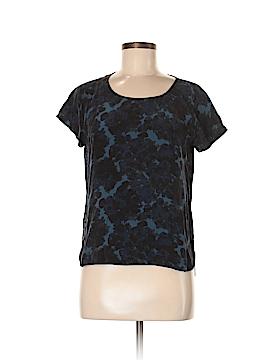 Jigsaw Short Sleeve Silk Top Size 8