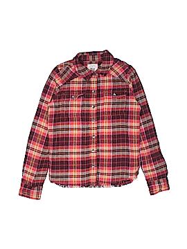 Billabong Long Sleeve Button-Down Shirt Size M (Youth)