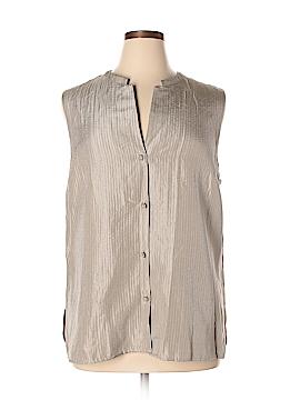 Eileen Fisher Short Sleeve Silk Top Size 1X (Plus)