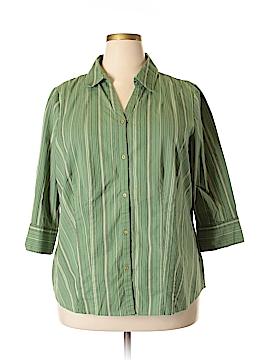 St. John's Bay 3/4 Sleeve Button-Down Shirt Size 2X (Plus)