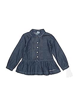 Calvin Klein Long Sleeve Button-Down Shirt Size 24 mo