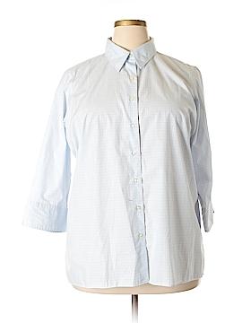 Lands' End 3/4 Sleeve Button-Down Shirt Size 20 (Plus)