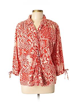 Erika 3/4 Sleeve Button-Down Shirt Size XL