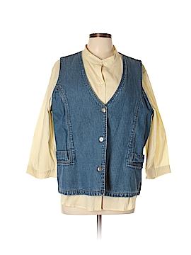 Denim Co Denim Vest Size XL