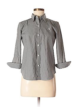 Lauren by Ralph Lauren 3/4 Sleeve Button-Down Shirt Size S