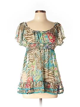 American Rag Cie Short Sleeve Blouse Size L