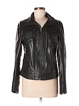 Black Rivet Leather Jacket Size M