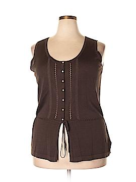 Tommy Hilfiger Sleeveless Silk Top Size 2X (Plus)