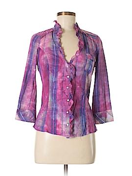 Kouture by Kimora 3/4 Sleeve Button-Down Shirt Size M