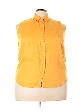 Lauren by Ralph Lauren Sleeveless Button-Down Shirt Size 1X (Plus)