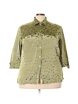 JM Collection 3/4 Sleeve Blouse Size 18W (Plus)