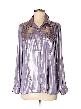 Elementz 3/4 Sleeve Button-Down Shirt Size M