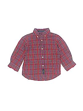 E-Land American Long Sleeve Button-Down Shirt Size 12-18 mo