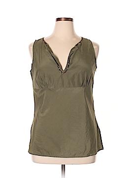 New York & Company Sleeveless Silk Top Size 14