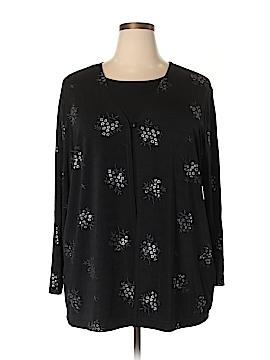 Christie & Jill 3/4 Sleeve Top Size 2X (Plus)
