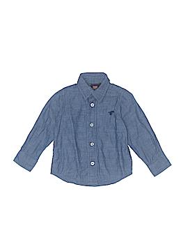 Wrangler Jeans Co Long Sleeve Button-Down Shirt Size 24 mo