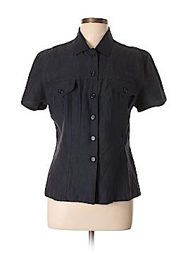 Henri Bendel Short Sleeve Silk Top Size L