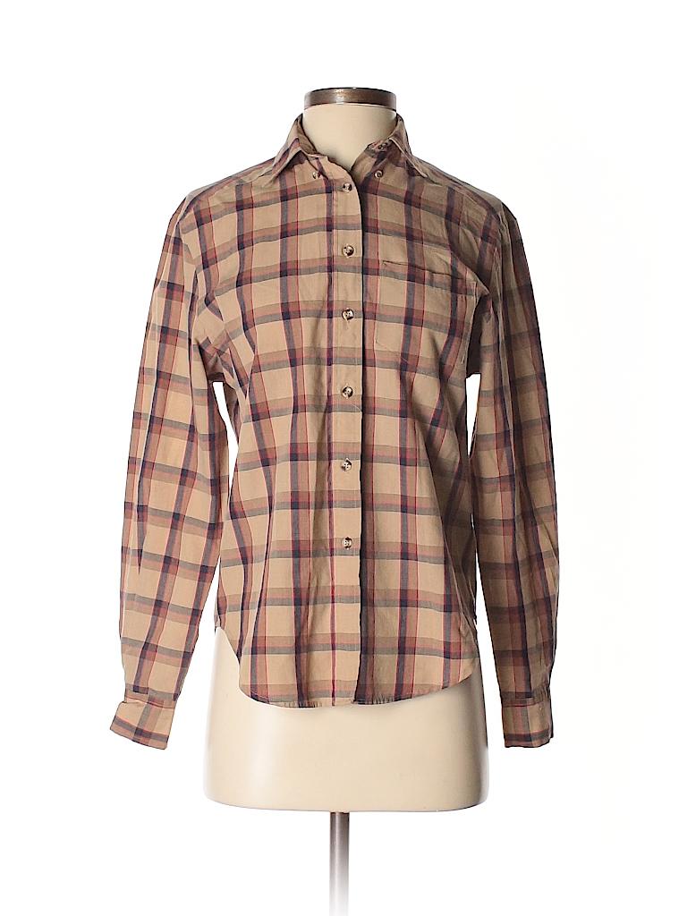 Villager Women Long Sleeve Button-Down Shirt Size 6