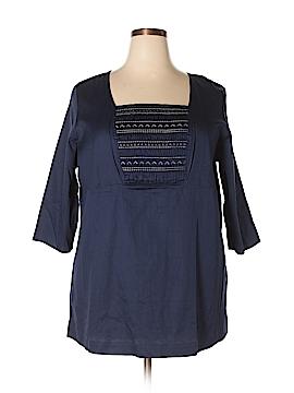 D&Co. 3/4 Sleeve Blouse Size 1X (Plus)
