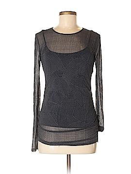 City DKNY Long Sleeve Silk Top Size M