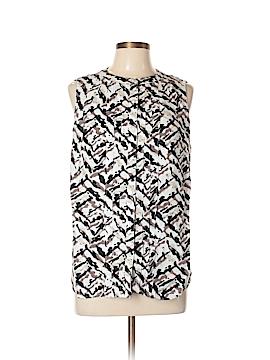 Kim Rogers Sleeveless Button-Down Shirt Size L