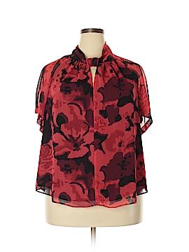 RACHEL Rachel Roy Short Sleeve Blouse Size 1X (Plus)