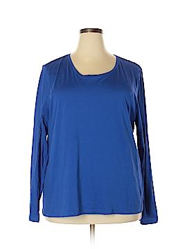 Ellen Tracy Long Sleeve T-Shirt Size 3X (Plus)