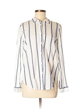 LOGO Long Sleeve Button-Down Shirt Size 6