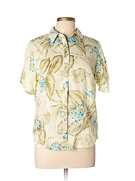 Jamaica Bay Short Sleeve Button-Down Shirt Size L