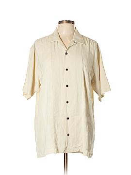 Geoffrey Beene Short Sleeve Button-Down Shirt Size L
