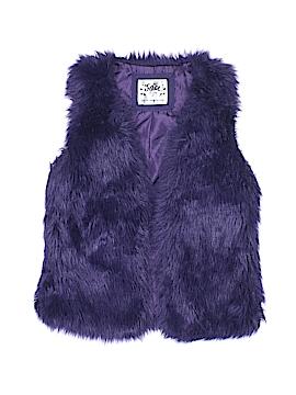 Justice Faux Fur Vest Size 10