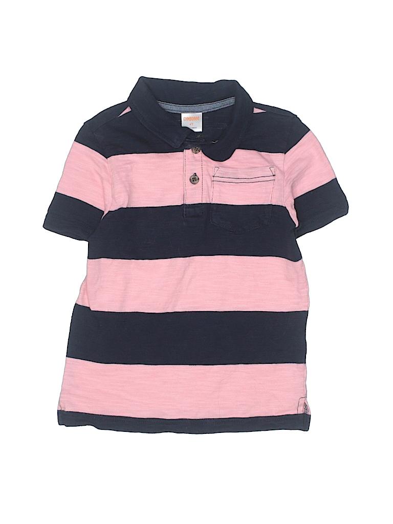 Gymboree 100 Cotton Stripes Light Pink Short Sleeve Polo Size 4t