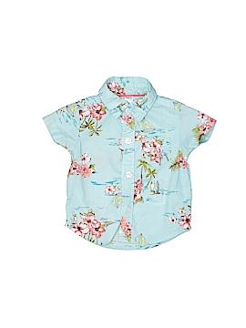 Carter's Short Sleeve Button-Down Shirt Size 9-12 mo