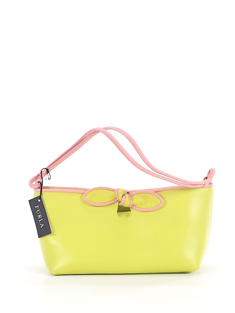 d80c94e2e906 FURLA 100% Leather Solid Light Green Leather Shoulder Bag One Size ...