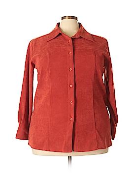 Denim Co Long Sleeve Button-Down Shirt Size 1X (Plus)