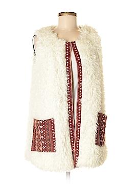 Hem & Thread Faux Fur Vest Size S