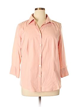 Talbots Long Sleeve Button-Down Shirt Size 14 (Plus)